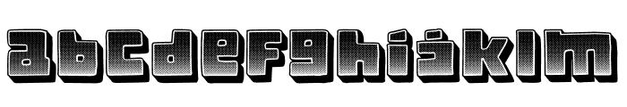 Crazy Gradient Regular Font LOWERCASE