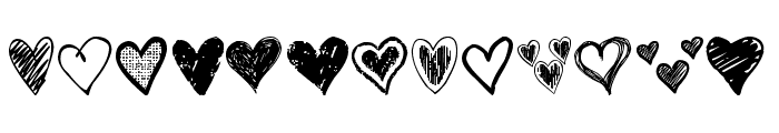 Crazy Hearts Font LOWERCASE