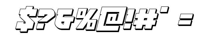 Crazy Ivan 3D Italic Font OTHER CHARS