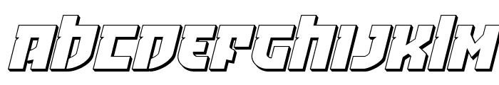 Crazy Ivan 3D Italic Font UPPERCASE