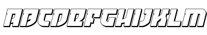 Crazy Ivan 3D Italic Font LOWERCASE