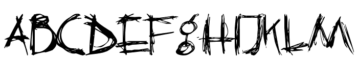 Crazy Killer Font LOWERCASE