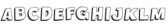 Crazy Krabs Shadow Font UPPERCASE
