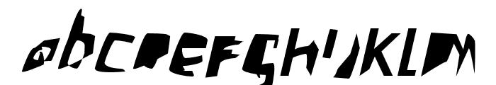 Crazy Punk Oblique Font LOWERCASE