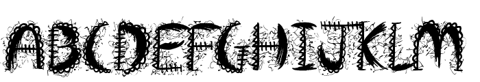 Crazy Weekend Font UPPERCASE