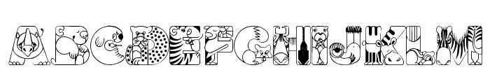 CrazyZoo Font UPPERCASE