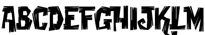 Creaky Frank Font UPPERCASE