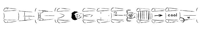 Create a Cartoon! [Male basic] Font LOWERCASE