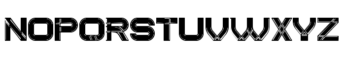 Created Filled Regular Font UPPERCASE