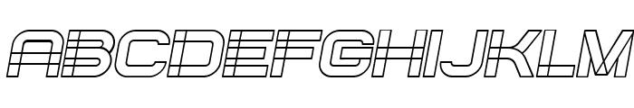 Created Italic Font UPPERCASE