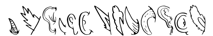 CreatureBuilderEars Font UPPERCASE