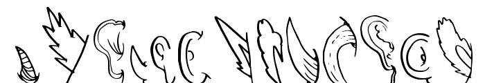 CreatureBuilderEars Font LOWERCASE