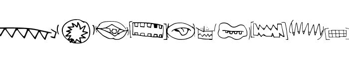 CreatureBuilderMouths Font UPPERCASE
