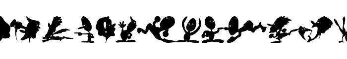 CreaturesShadows Font LOWERCASE
