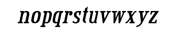 Credit Valley Bold Italic Font LOWERCASE