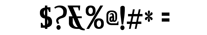 CreditRiver-Regular Font OTHER CHARS