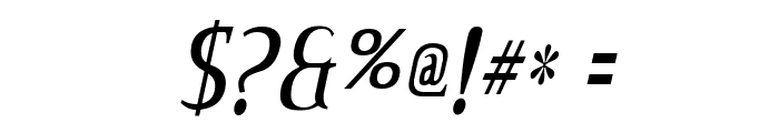 CreditValley-Italic Font OTHER CHARS