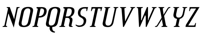 CreditValley-Italic Font UPPERCASE