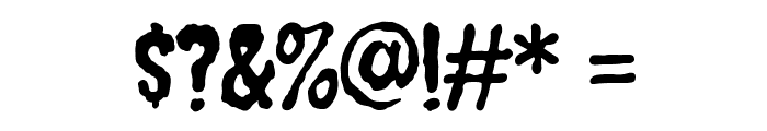 Creepster Font OTHER CHARS