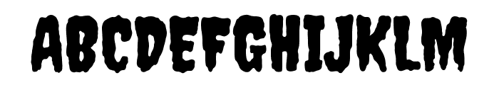 Creepster Font UPPERCASE