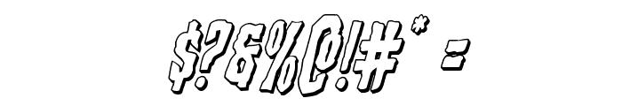 Creepy Crawlers 3D Italic Font OTHER CHARS