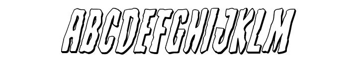 Creepy Crawlers 3D Italic Font UPPERCASE