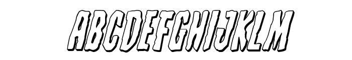 Creepy Crawlers 3D Italic Font LOWERCASE