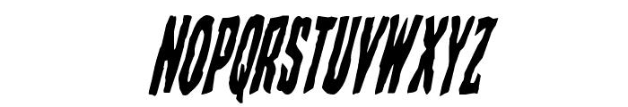 Creepy Crawlers Condensed Italic Font UPPERCASE