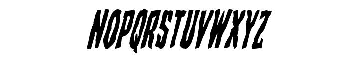 Creepy Crawlers Condensed Italic Font LOWERCASE