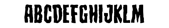 Creepy Crawlers Expanded Font LOWERCASE