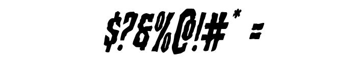 Creepy Crawlers Italic Font OTHER CHARS