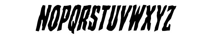 Creepy Crawlers Italic Font UPPERCASE