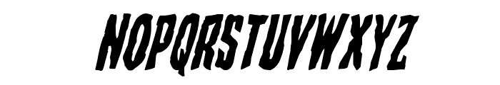 Creepy Crawlers Italic Font LOWERCASE