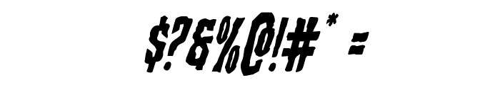Creepy Crawlers Staggered Italic Font OTHER CHARS