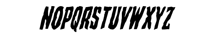 Creepy Crawlers Staggered Italic Font LOWERCASE