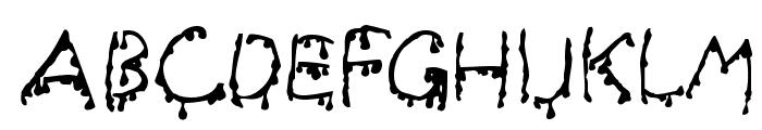 Creepy Font UPPERCASE