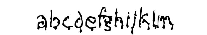 Creepy Font LOWERCASE