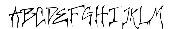 Creepygirl Font UPPERCASE