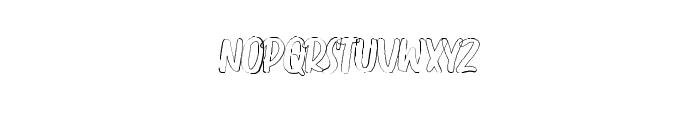 Creshex Brush Outline Font LOWERCASE