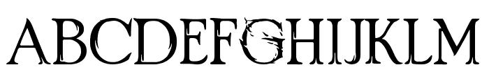 Crimes of Grindelwald Font UPPERCASE