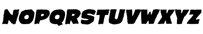 Crimewave BB Italic Font UPPERCASE