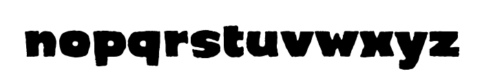 Crimewave BB Font LOWERCASE