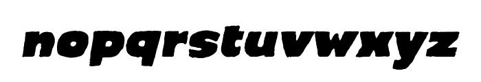 CrimewaveBB-Italic Font LOWERCASE