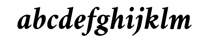 Crimson Bold Italic Font LOWERCASE