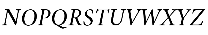 Crimson Italic Font UPPERCASE
