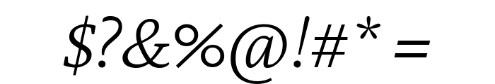 Crimson Pro ExtraLight Italic Font OTHER CHARS