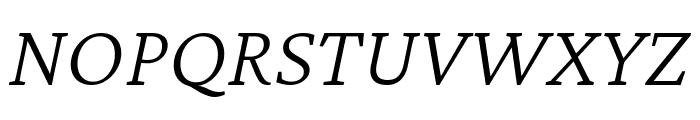 Crimson Pro ExtraLight Italic Font UPPERCASE