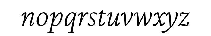 Crimson Pro ExtraLight Italic Font LOWERCASE