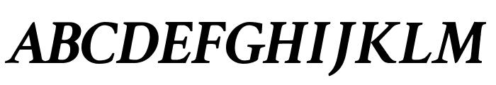 Crimson Text Bold Italic Font UPPERCASE