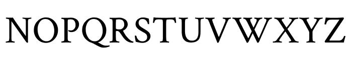 Crimson Text Regular Font UPPERCASE